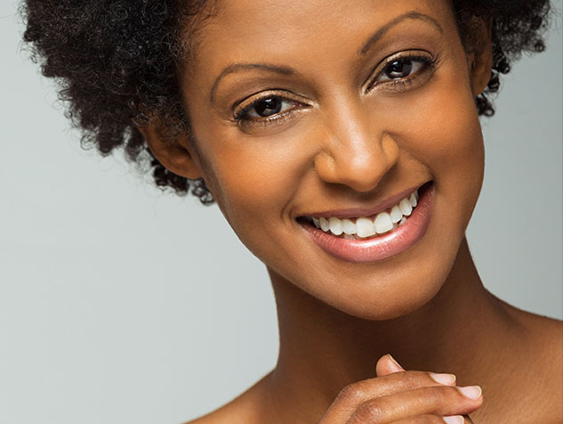 woman with preventative resins