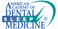 American Academy of Dental Sleep Medicine logo in blue and green