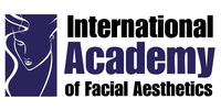 International Academy of Facial Aesthetics logo in blue and black