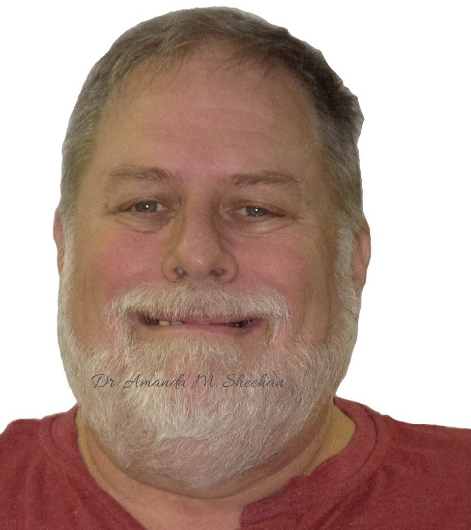 before picture of a smiling man with a beard