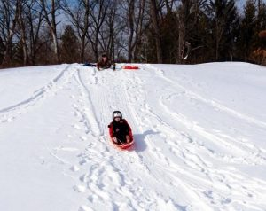 sledding in shelby township