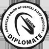 black and white abdsm diplomate logo